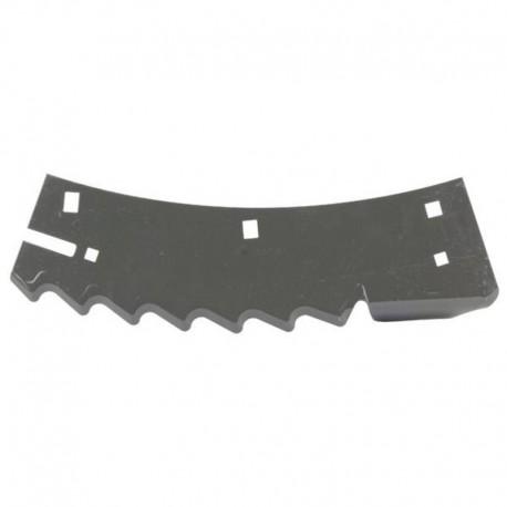 Нож измельчителя комбайна Claas Jaguar - правый, 371х122х3мм