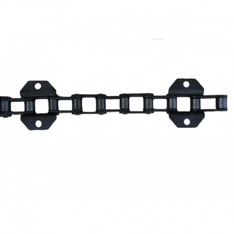 Цепь транспортера наклонной камеры комбайна Claas 102 звена, 17 скребков, d6,9мм