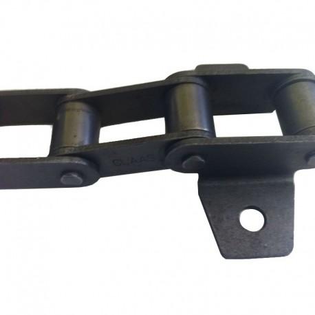 Цепь транспортера наклонной камеры комбайна Claas 94 звена, 16 скребков, d8,3мм