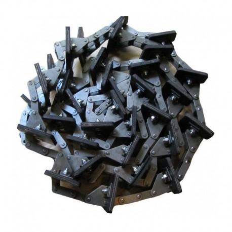 Зерновой элеватор комбайна Claas в сборе - 108 звеньев, 27 скребков, d6,9мм