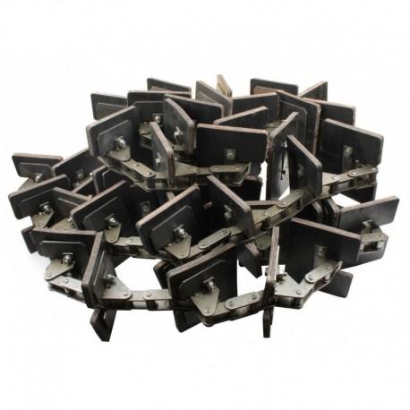 Зерновой элеватор комбайна Claas в сборе - 166 звеньев, 41 скребков, d-8,3