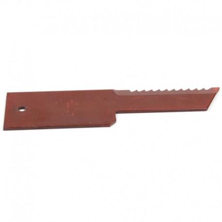 Подвижный зубчатый нож измельчителя комбайна John Deere - 198х50х3мм [Rasspe]