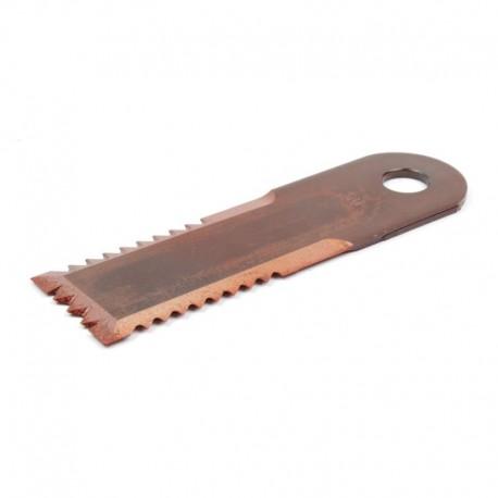 Подвижный зубчатый нож измельчителя комбайна John Deere - 173х50х4мм [Rasspe]