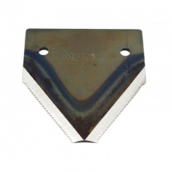 Сегмент ножа жатки комбайна Claas (нижняя насечка) [MWS]