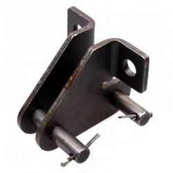 Соединительное звено транспортерной цепи 38,4 (8,3 с лапкой)