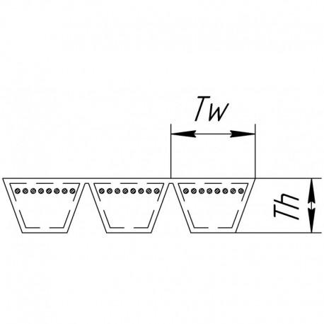 Многоручьевой ремень 3HB-2886 [Agrobelts]