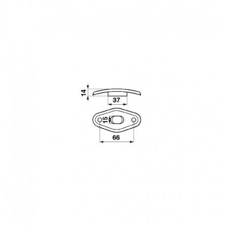Направляющая пальца шнека жатки комбайна John Deere, 15х37 мм