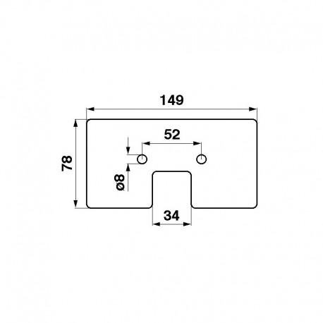 Резиновый скребок транспортера комбайна John Deere - 78x149мм