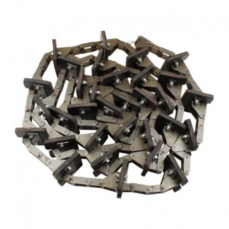 Зерновой элеватор комбайна Claas в сборе - 144 звена, 38 скребков, d6,9мм