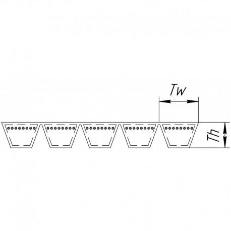 Многоручьевой ремень 5HB-2555 [Agrobelts]