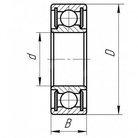 Подшипник шариковый 180303 (6303 2RSC3) [Fersa]