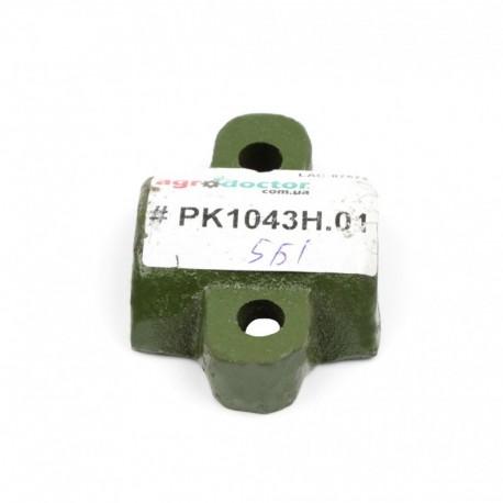 Корпус резинового отбойника грохота комбайна John Deere - 67х48х18мм