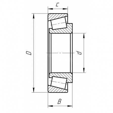 Подшипник роликовый конический JM207049/JM207010 [Fersa]