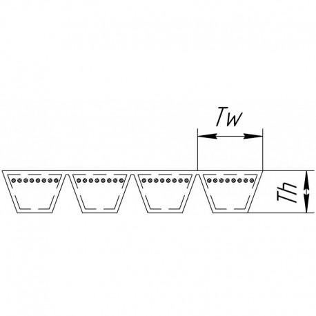 Многоручьевой ремень 4HB-1612 [Agrobelts]