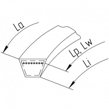 Приводной клиновой ремень 0301373 [Gates]