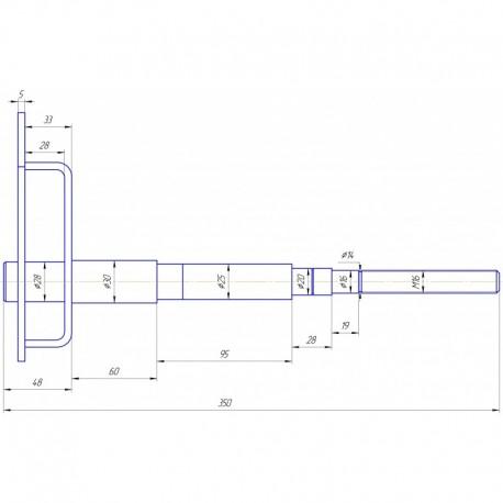 Кронштейн вариатора вентилятора
