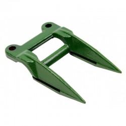 Двойной палец ножа жатки комбайна John Deere -158мм, 2 отверстия 10,5мм