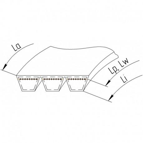 Многоручьевой ремень 3HB-3390 [Roflex]