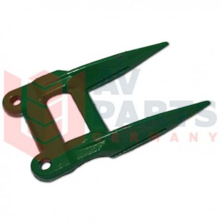 Двойной палец ножа жатки комбайна John Deere - 158мм, 2 отверстия 10,5мм