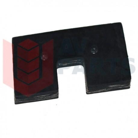 Резиновый скребок транспортера комбайна John Deere - 60x120мм