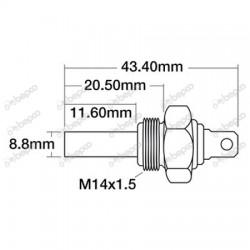 Temperature sensor, Case-IH 431[Bepco]