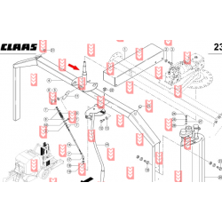 Claas Rollant 255 console shaft[AVparts]